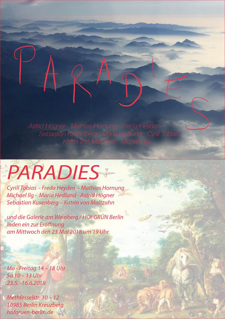 BIld zur Ausstellung Paradies